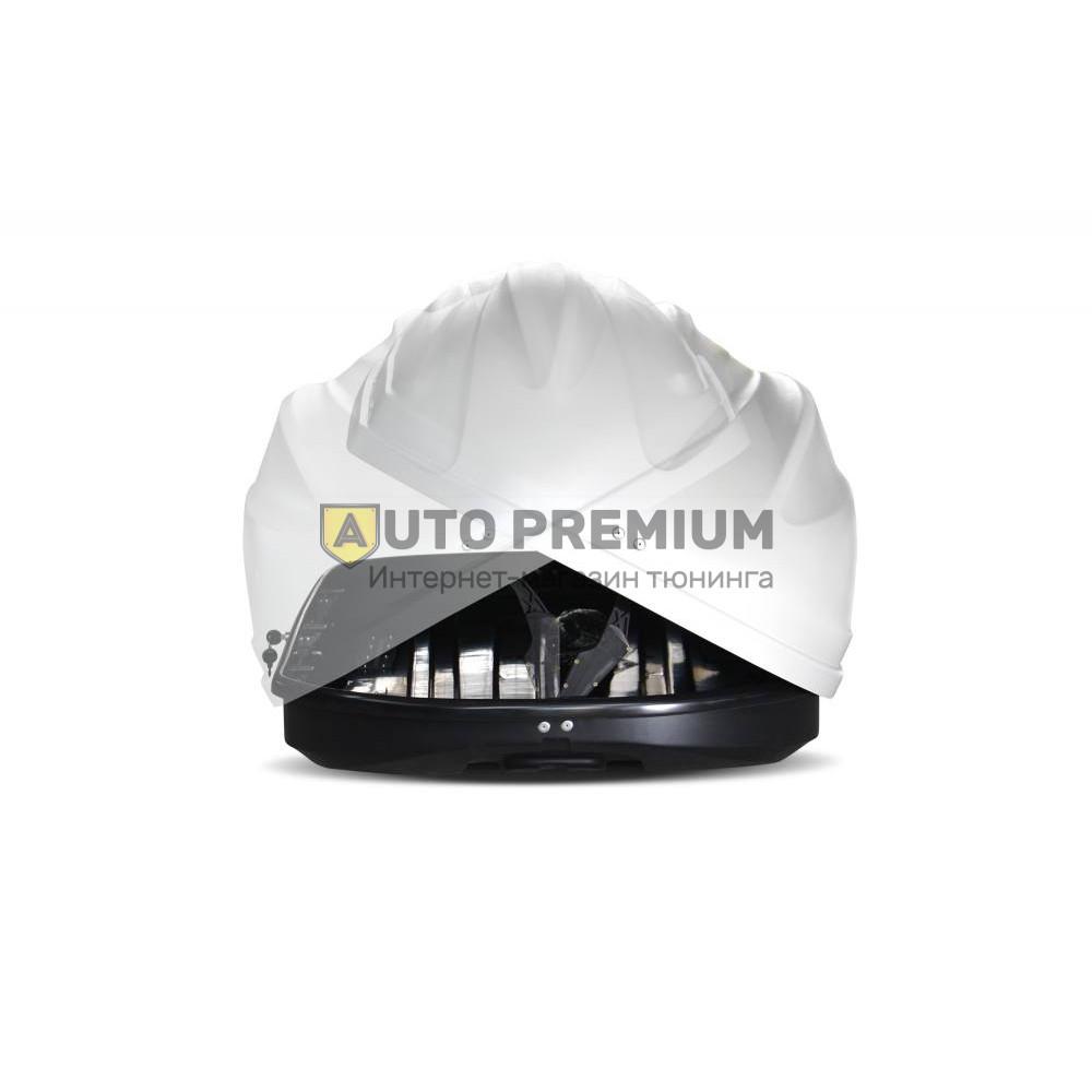 Автобокс на крышу Белый Turino Compact (360 л) Аэродинамический с двусторонним открыванием на крышу автомобиля